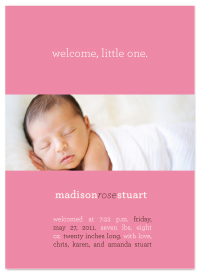 birth announcements - Welcome Little One by a visual concept