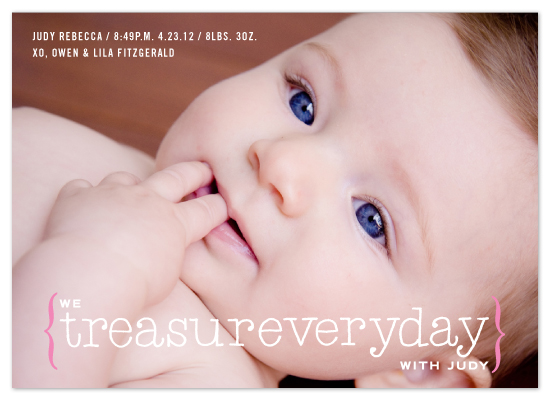 birth announcements - treasureveryday by campbell and co.