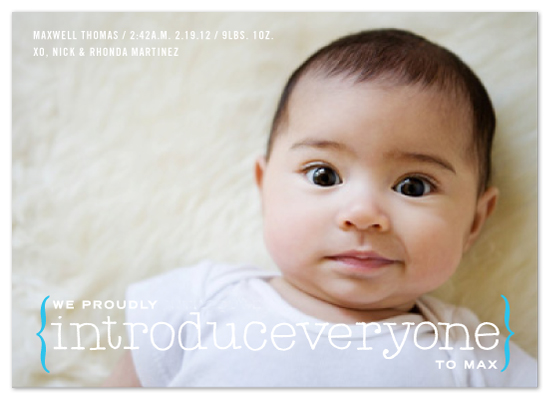 birth announcements - introduceveryone by campbell and co.
