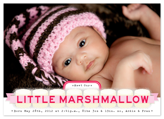 birth announcements - little marshmallow by campbell and co.