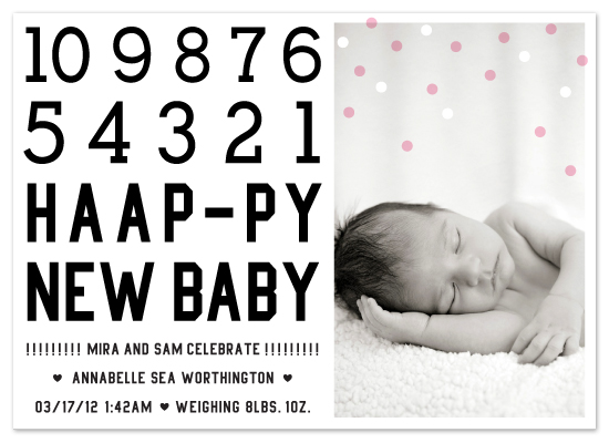 birth announcements - happy new baby! by campbell and co.