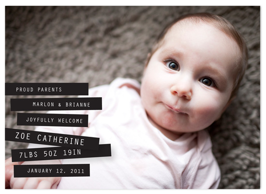 birth announcements - Label Me Baby by victoria