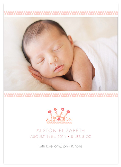 birth announcements - Our Crown Jewel by hobson studios