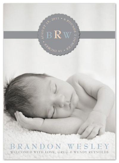 birth announcements - Monogram Seal by Designs by Yu