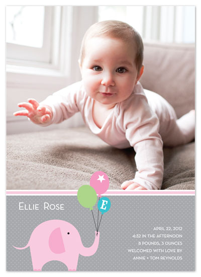 birth announcements - e is for elephant by Local Produce