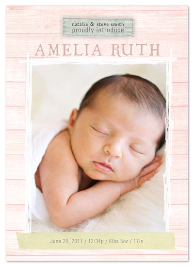 birth announcements - Vintage Frame Baby Announcement by east and twelve