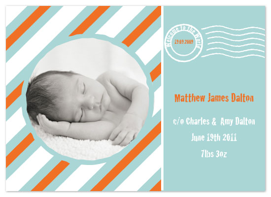 birth announcements - Handle With Care by Feather and Ink