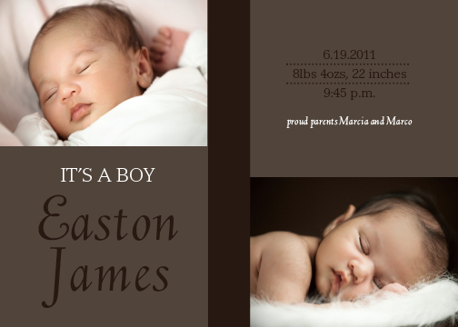 birth announcements - Wonderful Delivery by Sharon Hoffman