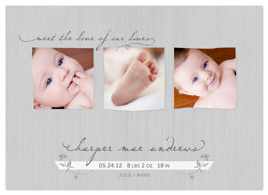 birth announcements - Love of Our Lives by Erin Pescetto