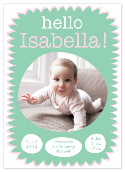 birth announcements - Hello Bella! by mynameisbettina