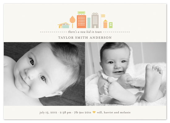 birth announcements - new kid in town by nocciola design