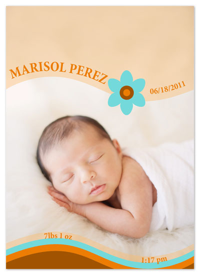 birth announcements - Baby on waves by Ink it Pink