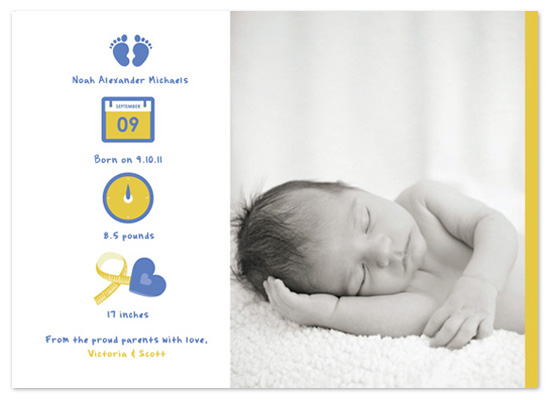 birth announcements New Baby Icons at Minted – New Baby Born Announcement