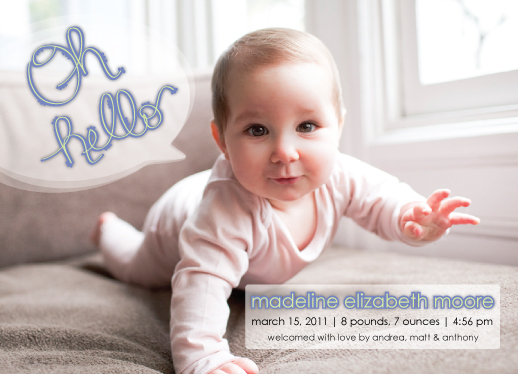 birth announcements - oh hello by Quinn Peyser