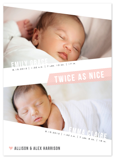 birth announcements - Angled Twins by Lehan Veenker