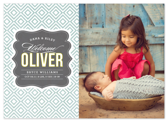 birth announcements - Vintage Paper by Griffinbell Paper Co.