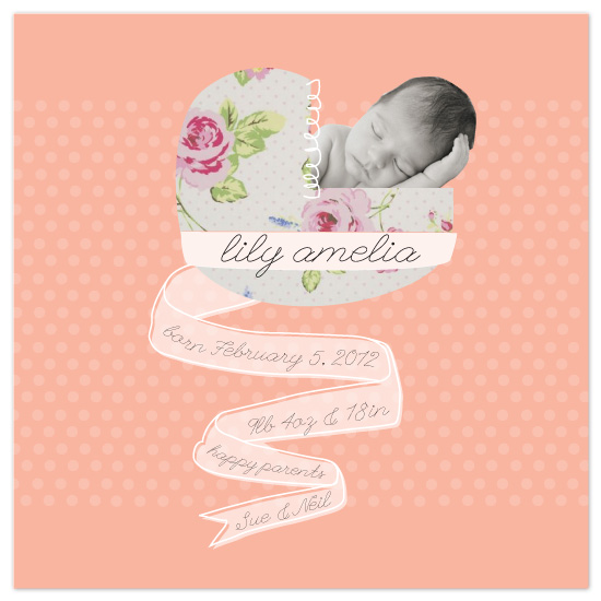 birth announcements - my 1910 baby by tin cup design