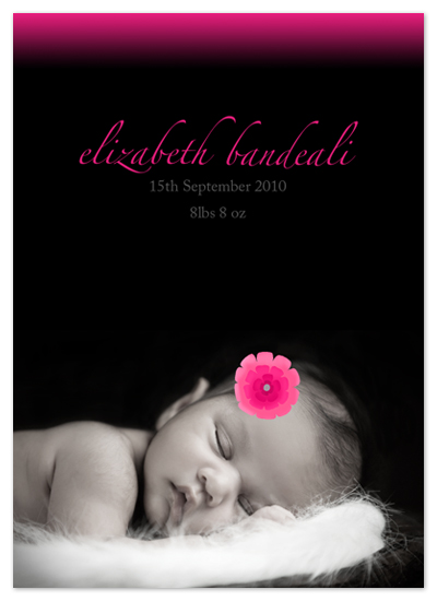 birth announcements - Flowers are Pink by Ink it Pink