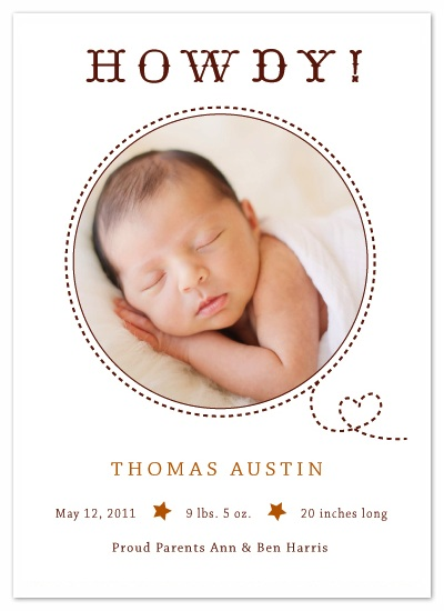 birth announcements - Our Littlest Partner by lb