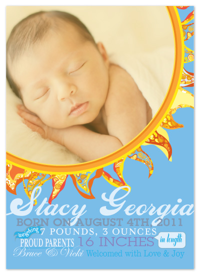 birth announcements - Our Sunshine by Rouge Bicyclette