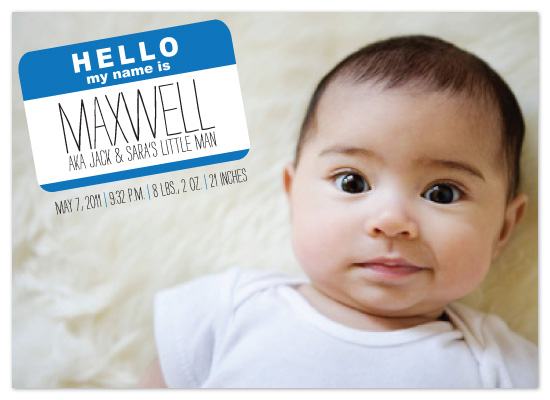 birth announcements nametagged at Minted – Birth Announcments