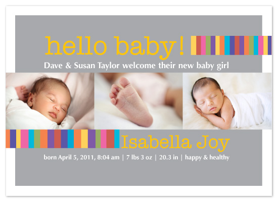 birth announcements - Hello Baby! by Maria Boudreaux