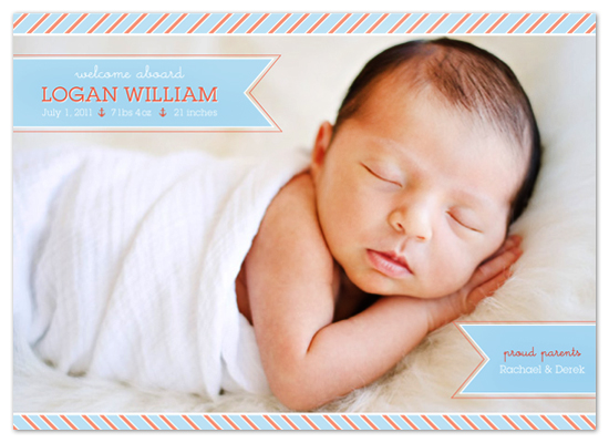 birth announcements - Welcome Aboard Birth Announcement by Tea and Punch