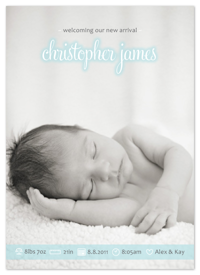 birth announcements - The Gentle Treatment by roxanne chang