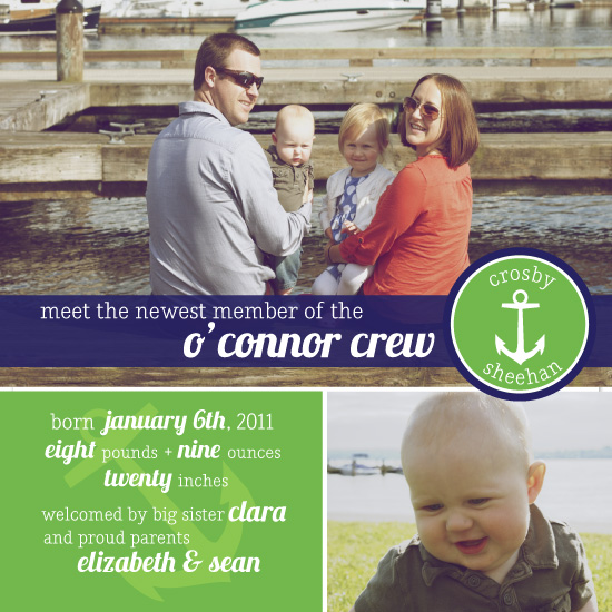 birth announcements nautical baby by little sprout creations