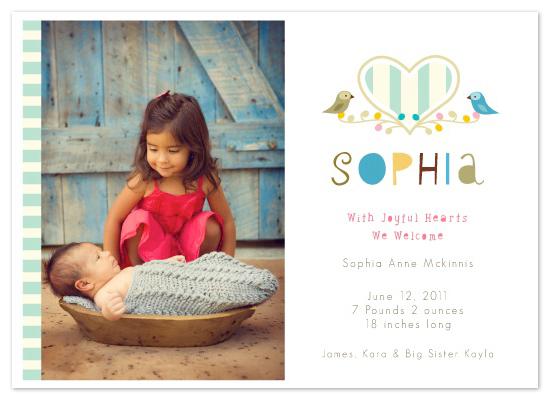 birth announcements - Joyful Hearts by lb