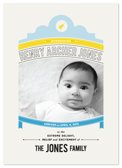 birth announcements - Classic Banner Birth Announcement by Corey David Helling