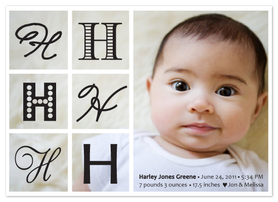 birth announcements - Letterland by Inkblot Paper