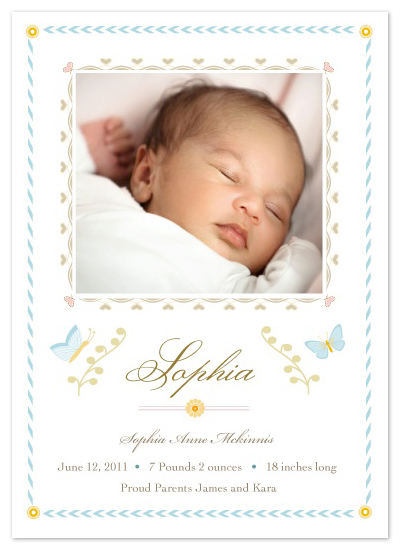 birth announcements - Porcelain Butterfly by lb