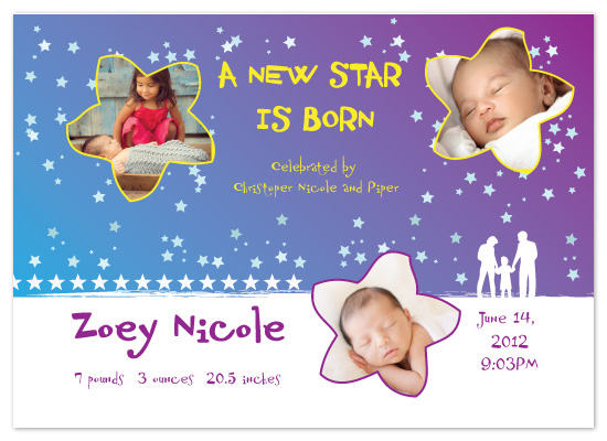 birth announcements - Starry Night by DuBose Designs