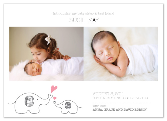 birth announcements - My Best Friend by Anais Lee