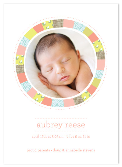 birth announcements - Bright Quilt by Laura Hankins