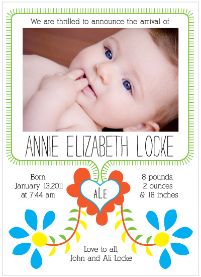 birth announcements - Portuguese Embroidery Baby Announcement by Mary Young