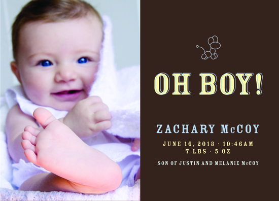 birth announcements - Oh Boy! by carrie luu
