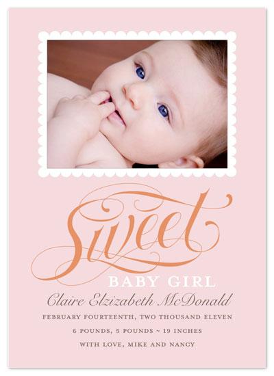 birth announcements - Sweet Baby by INKandIRON