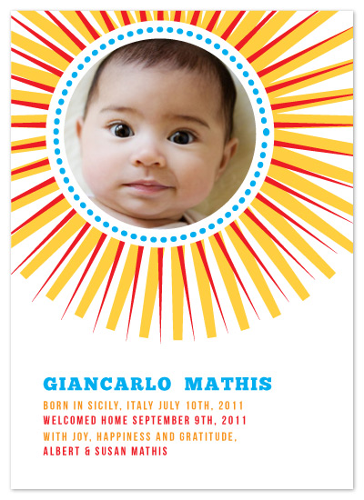 birth announcements - Giancarlo by Eleanor Mayrhofer