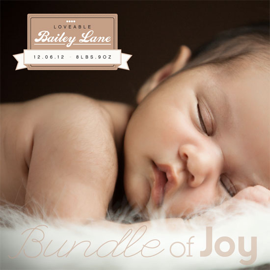 birth announcements - Bundle of Joy by Amy Dennis