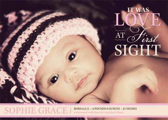 birth announcements - Love At First Sight by Sonya Baldwin