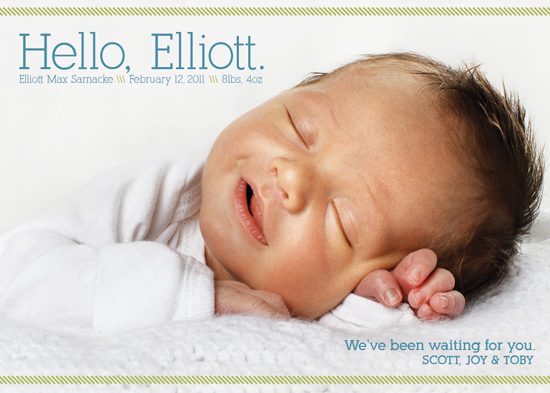 birth announcements - Casual Hello Birth Announcement by Tea and Punch