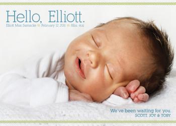 Casual Hello Birth Announcement