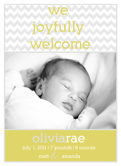 birth announcements - Chevron Baby by design by lulu