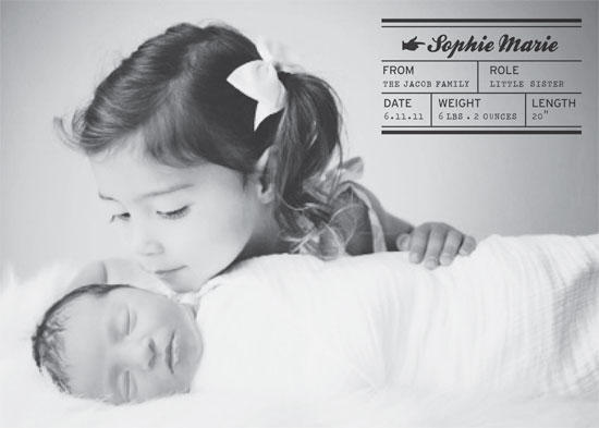 birth announcements - Mailing Label by Sonya Baldwin