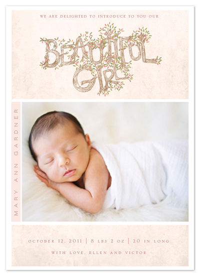 birth announcements - Beautiful girl by Ana de Sousa