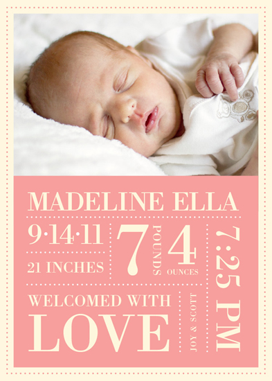 birth announcements - Tiny Dots and Custom Details Birth Announcement by Tea and Punch