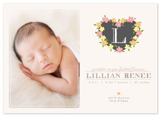 birth announcements - Written on our hearts by Lara Henning