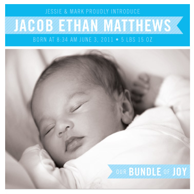 birth announcements - Our Bundle of Joy by Liddabits